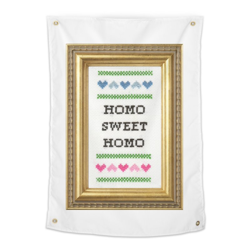 Homo Sweet Homo Home Tapestry by Subversive Cross Stitch