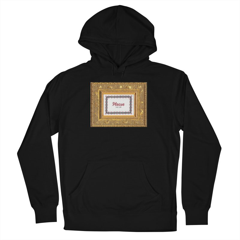 Please Fuck Off Men's French Terry Pullover Hoody by subversivecrossstitch's Artist Shop
