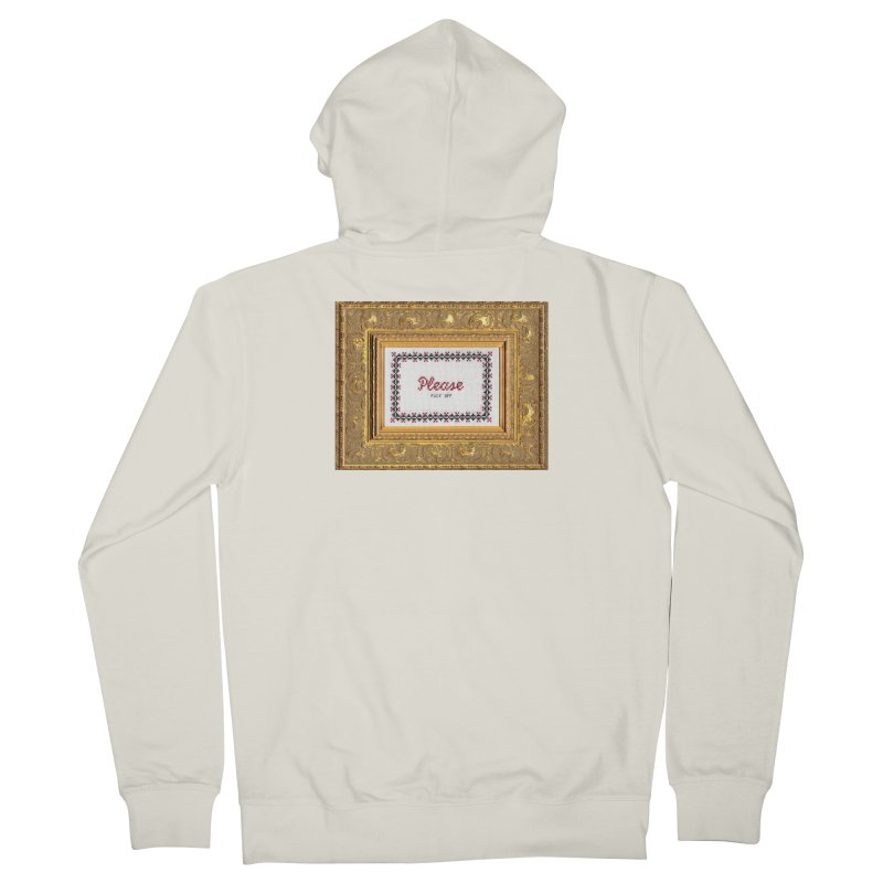 Please Fuck Off Men's French Terry Zip-Up Hoody by Subversive Cross Stitch