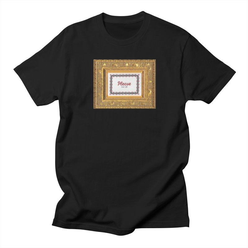 Please Fuck Off in Men's T-shirt Black by subversivecrossstitch's Artist Shop