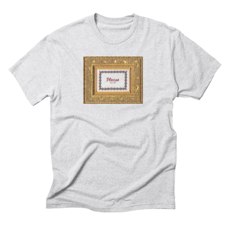 Please Fuck Off Men's Triblend T-Shirt by subversivecrossstitch's Artist Shop
