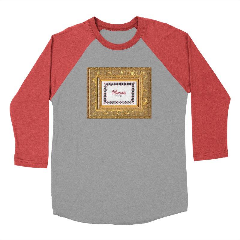 Please Fuck Off Men's Baseball Triblend T-Shirt by subversivecrossstitch's Artist Shop