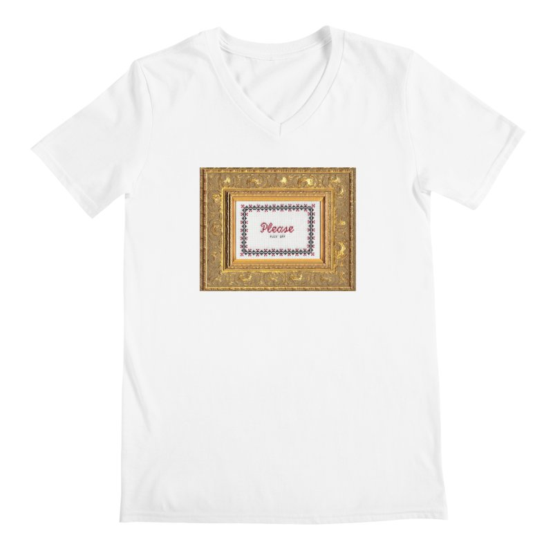 Please Fuck Off Men's V-Neck by subversivecrossstitch's Artist Shop
