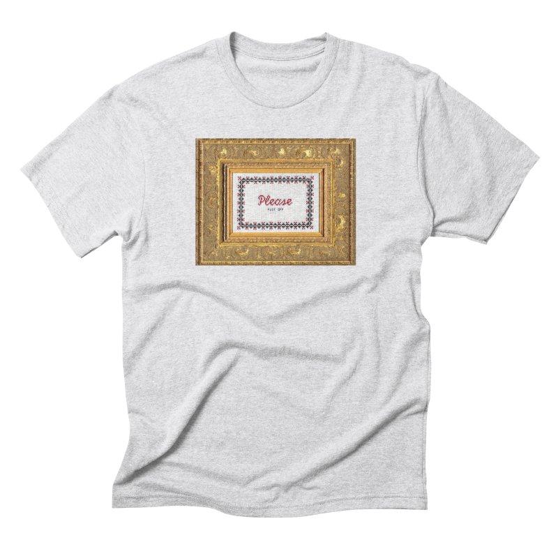 Please Fuck Off Men's Triblend T-shirt by subversivecrossstitch's Artist Shop
