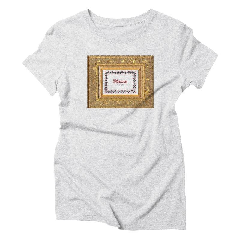 Please Fuck Off Women's T-Shirt by Subversive Cross Stitch