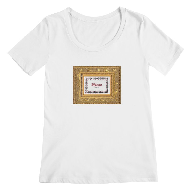Please Fuck Off Women's Scoopneck by subversivecrossstitch's Artist Shop