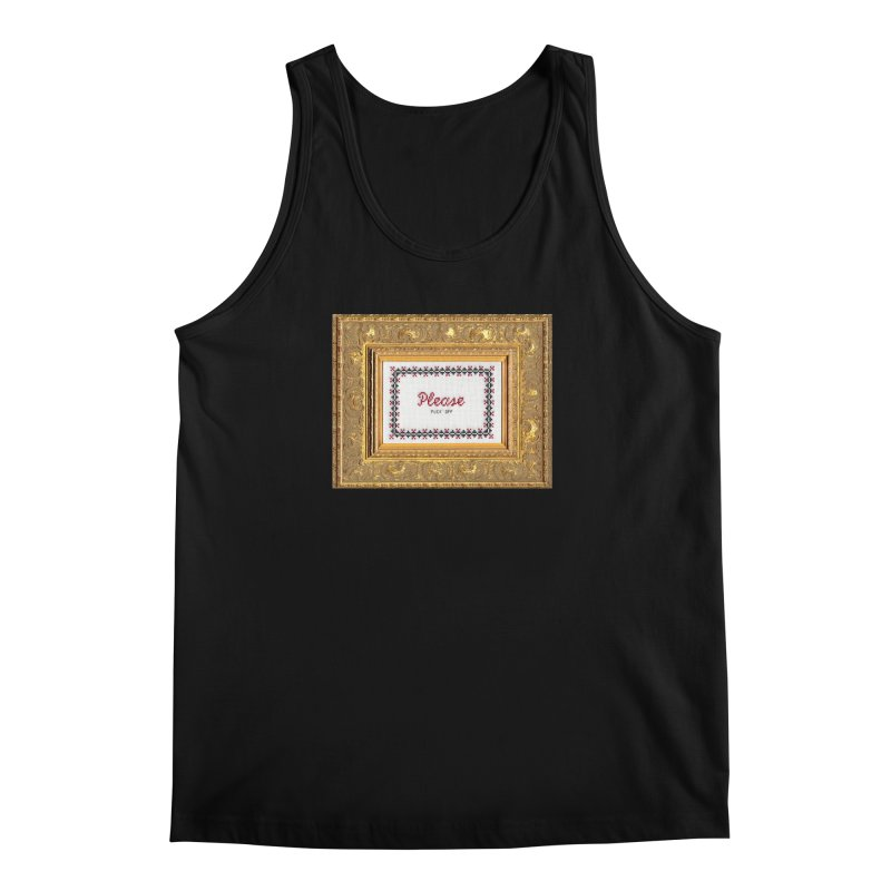 Please Fuck Off Men's Tank by Subversive Cross Stitch