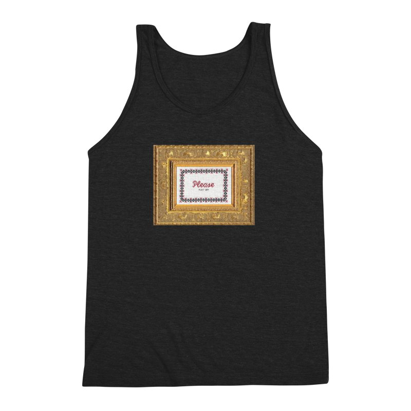 Please Fuck Off Men's Triblend Tank by Subversive Cross Stitch