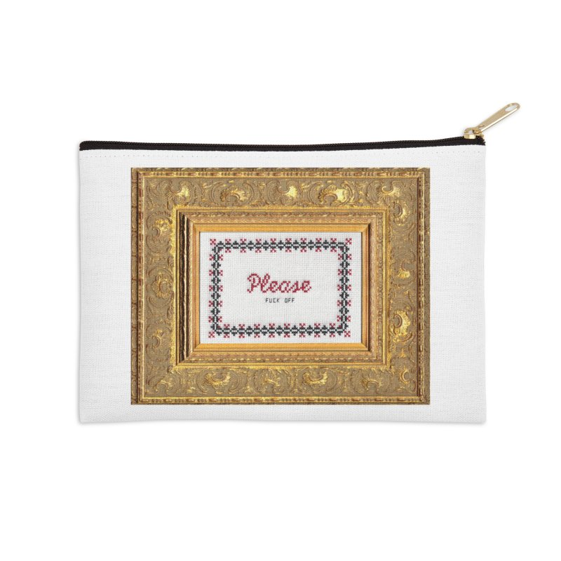 Please Fuck Off Accessories Zip Pouch by subversivecrossstitch's Artist Shop
