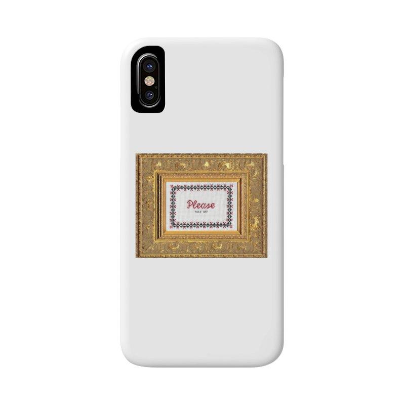 Please Fuck Off Accessories Phone Case by subversivecrossstitch's Artist Shop