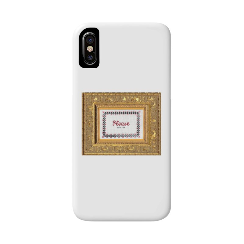 Please Fuck Off Accessories Phone Case by Subversive Cross Stitch