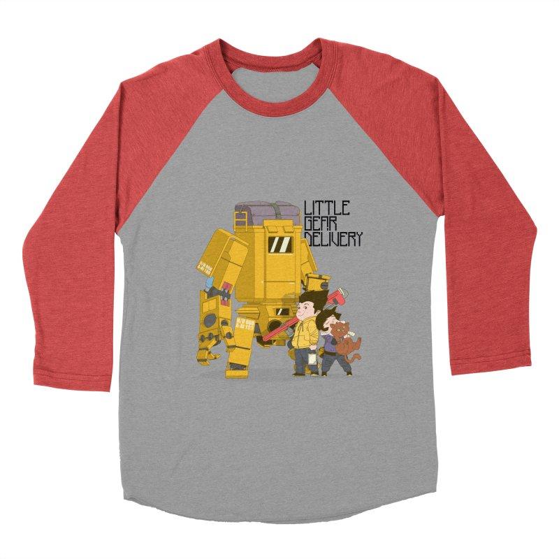 Little Gear Delivery Men's Baseball Triblend T-Shirt by suedemonkey's Artist Shop