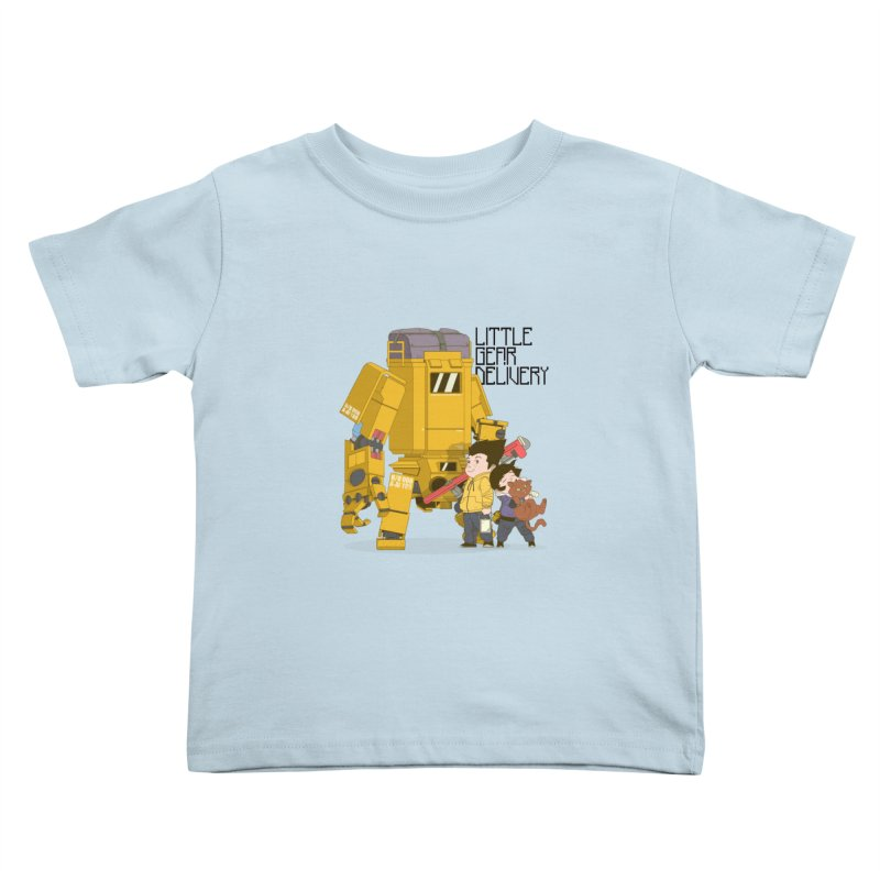 Little Gear Delivery Kids Toddler T-Shirt by suedemonkey's Artist Shop
