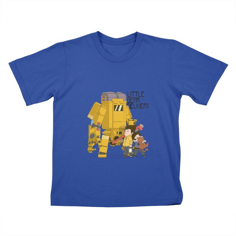 Little Gear Delivery Kids T-Shirt by suedemonkey's Artist Shop