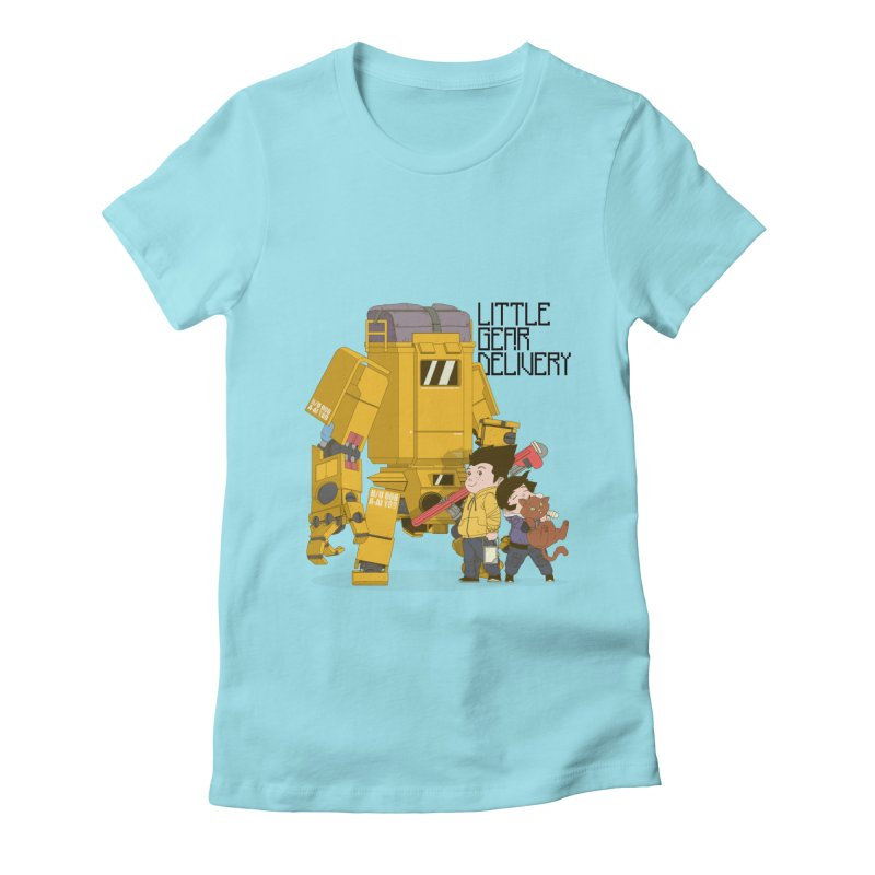 Little Gear Delivery Women's Fitted T-Shirt by suedemonkey's Artist Shop