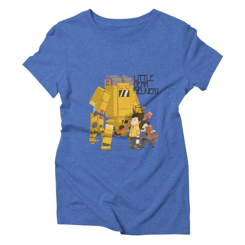 Little Gear Delivery Women's Triblend T-Shirt by suedemonkey's Artist Shop