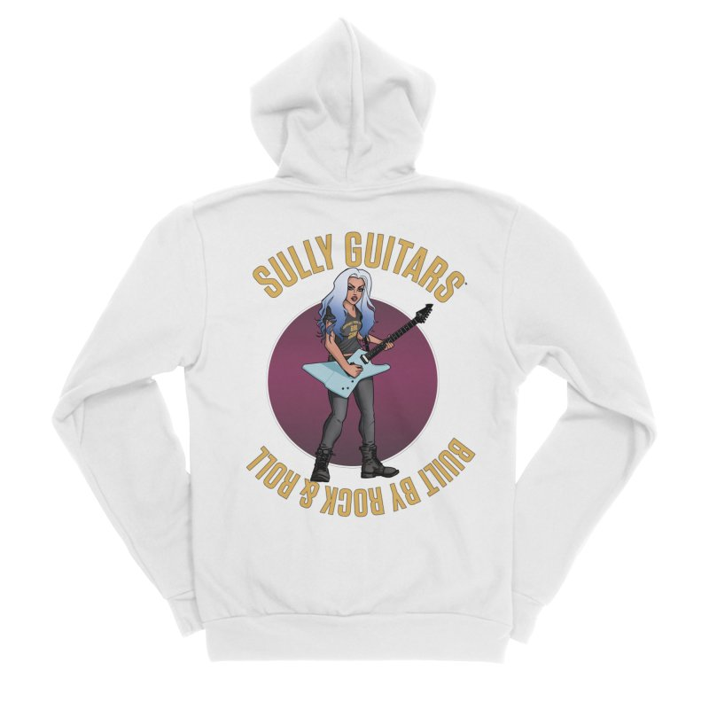 Elita (for light colored backgrounds) Women's Sponge Fleece Zip-Up Hoody by Sully Guitars Merch