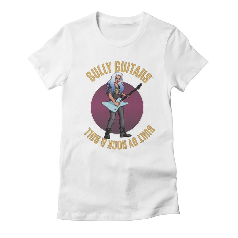 Elita (for light colored backgrounds) Women's Fitted T-Shirt by Sully Guitars Merch