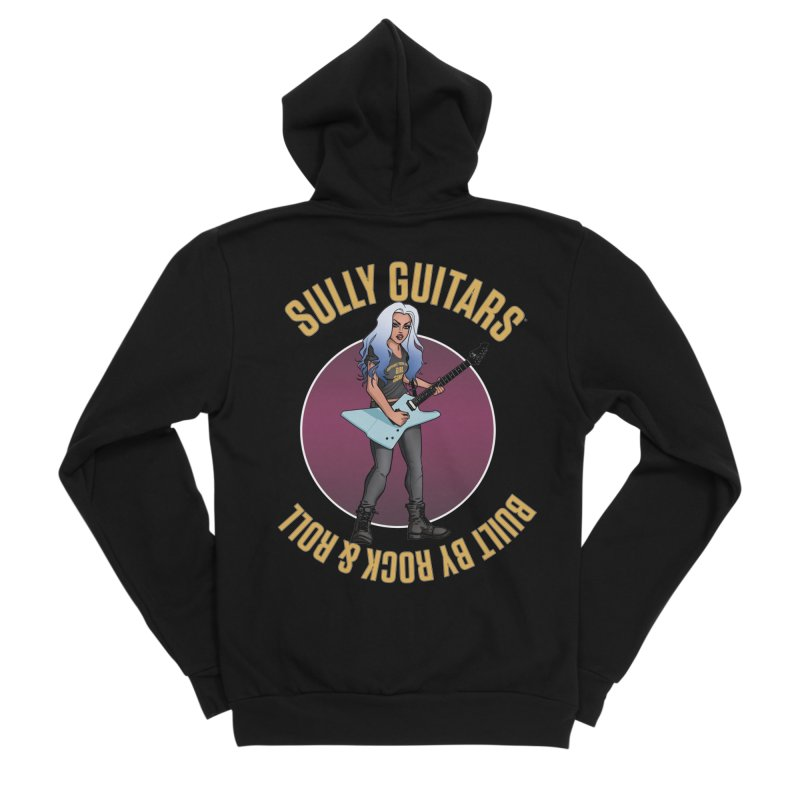 Elita (for dark colored items) Women's Sponge Fleece Zip-Up Hoody by Sully Guitars Merch