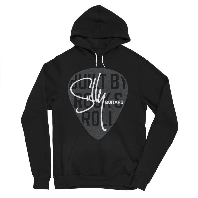 Sully Guitars - Built By Rock & Roll Guitar Pick Women's Sponge Fleece Pullover Hoody by Sully Guitars Merch