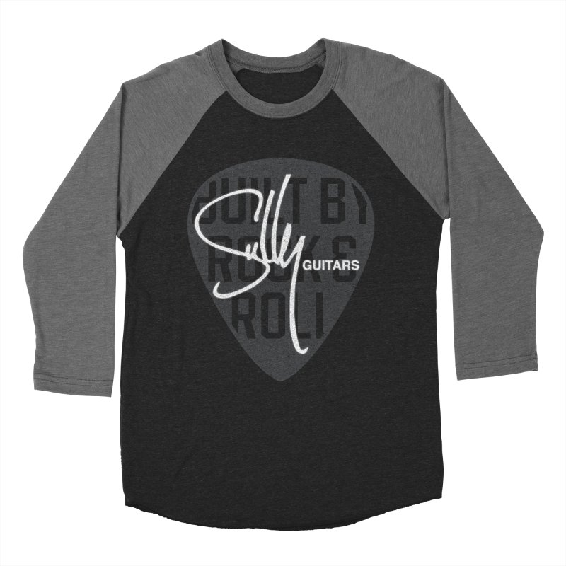 Sully Guitars - Built By Rock & Roll Guitar Pick Men's Baseball Triblend Longsleeve T-Shirt by Sully Guitars Merch