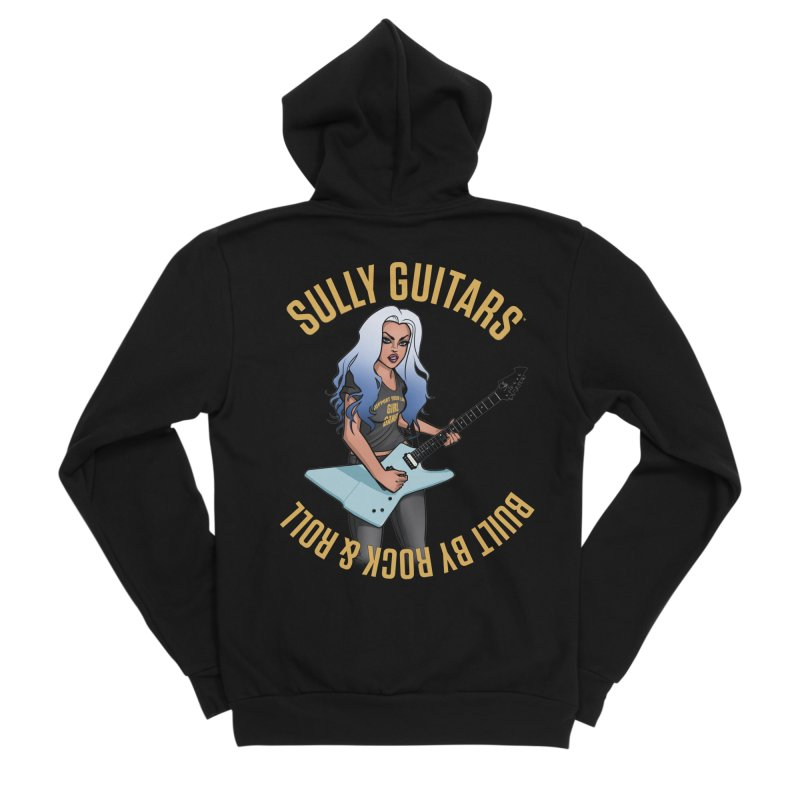 Elita Close up (for dark colored items) Men's Sponge Fleece Zip-Up Hoody by Sully Guitars Merch