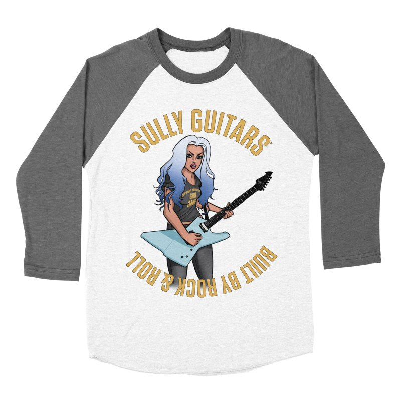 Elita Close up (for dark colored items) Women's Baseball Triblend Longsleeve T-Shirt by Sully Guitars Merch