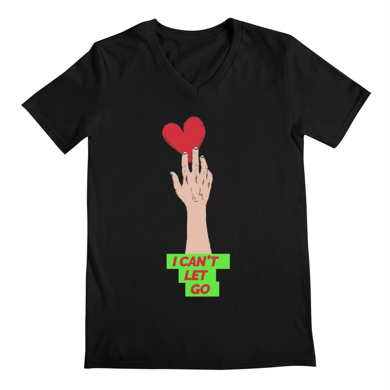 I can't let go Men's Regular V-Neck by Strictly Underground Music's Shop
