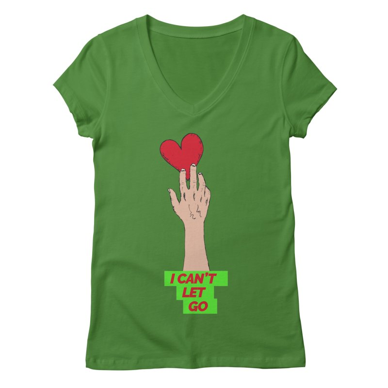 I can't let go Women's Regular V-Neck by Strictly Underground Music's Shop