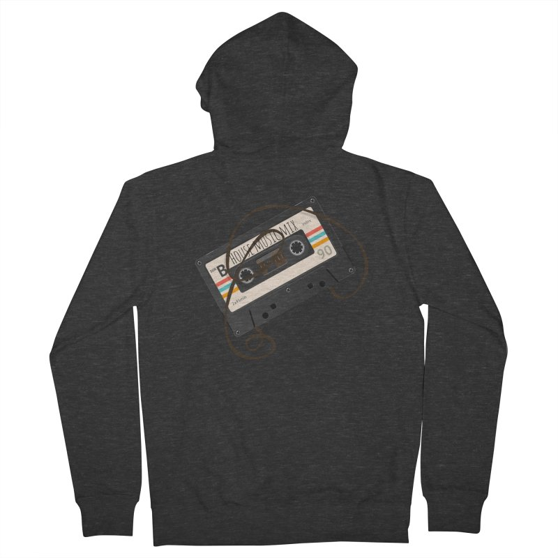 House music mixtape Women's French Terry Zip-Up Hoody by Strictly Underground Music's Shop