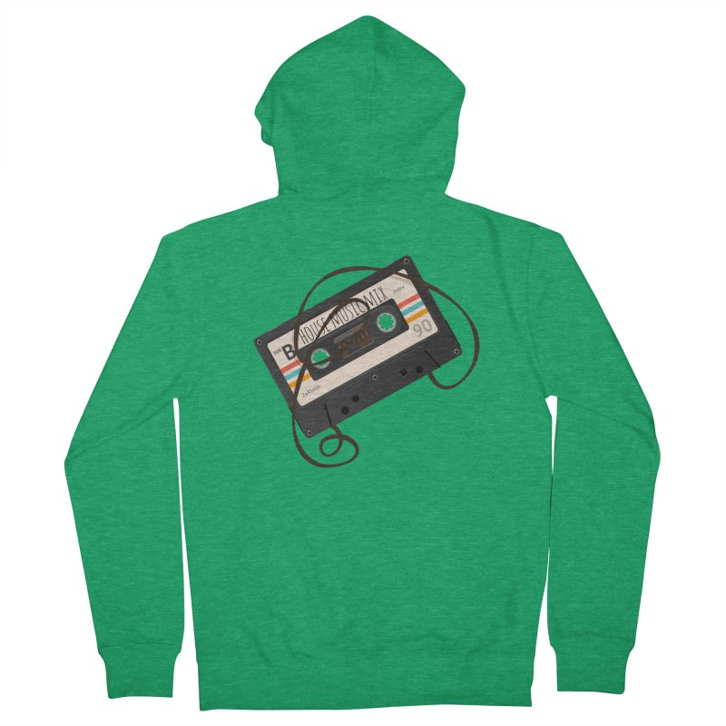 House music mixtape Men's French Terry Zip-Up Hoody by Strictly Underground Music's Shop