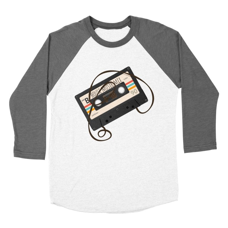 House music mixtape Women's Baseball Triblend Longsleeve T-Shirt by Strictly Underground Music's Shop