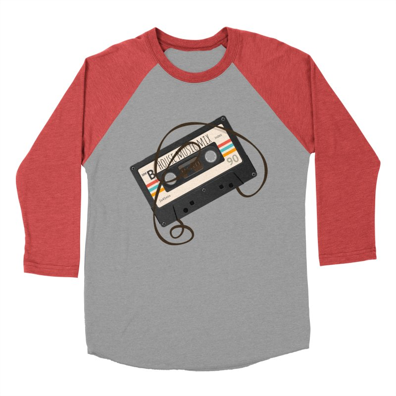 House music mixtape Women's Baseball Triblend T-Shirt by Strictly Underground Music's Shop