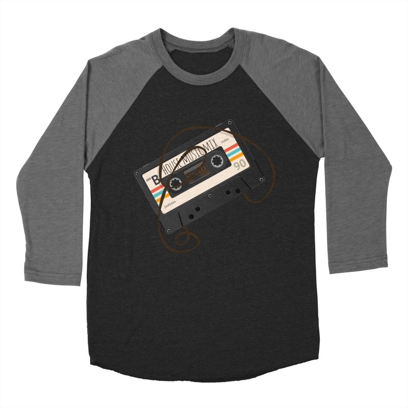 House music mixtape Men's Baseball Triblend Longsleeve T-Shirt by Strictly Underground Music's Shop