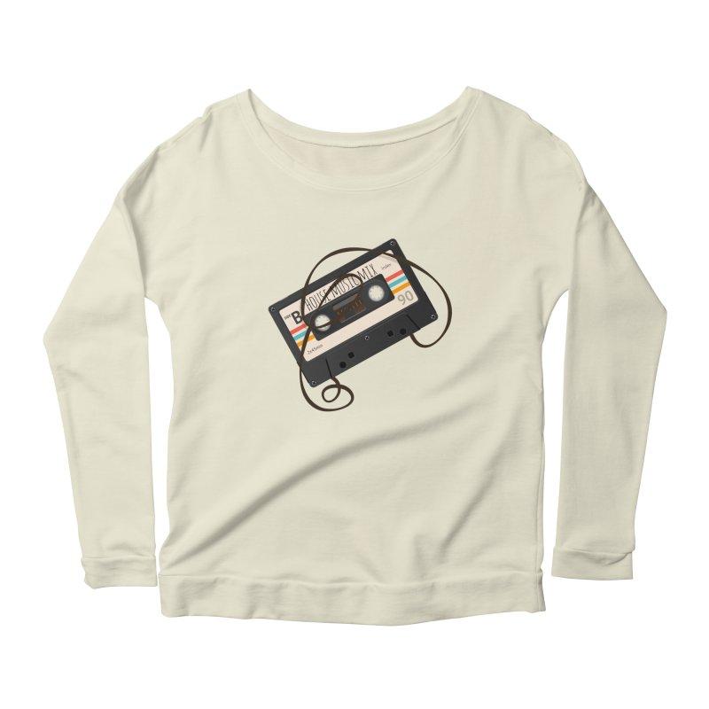 House music mixtape Women's Longsleeve Scoopneck  by Strictly Underground Music's Shop