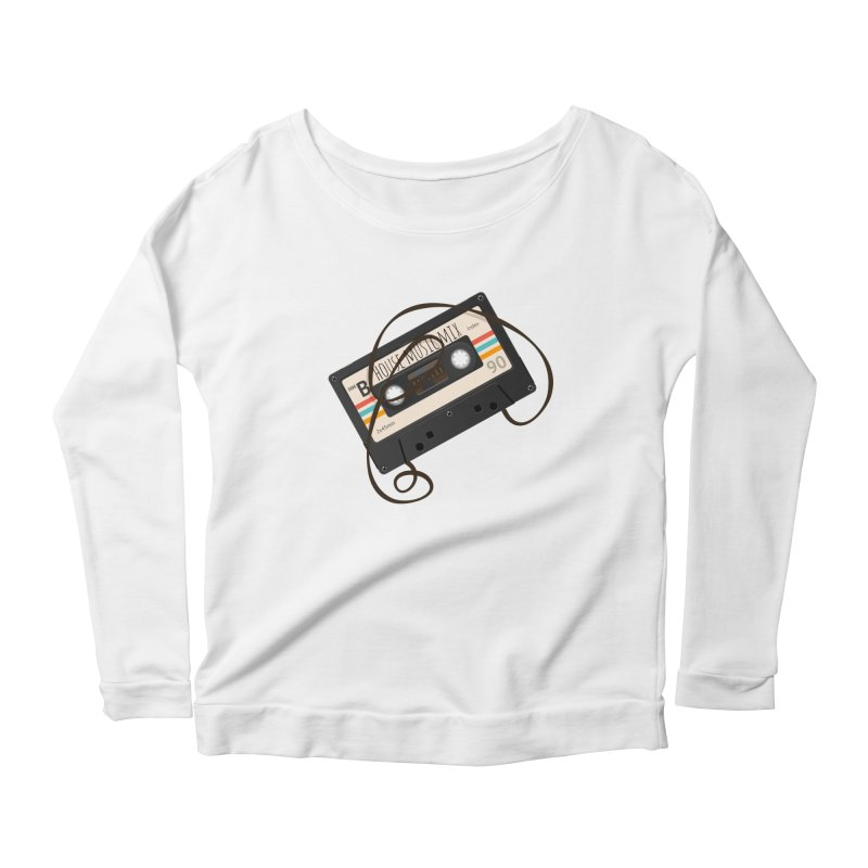 House music mixtape Women's Scoop Neck Longsleeve T-Shirt by Strictly Underground Music's Shop
