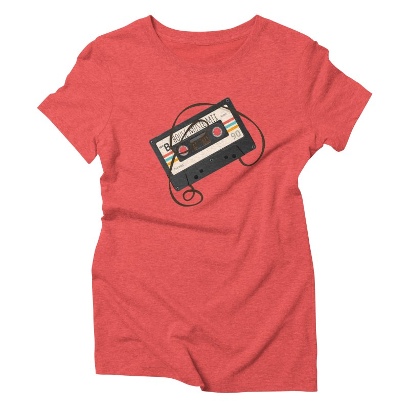 House music mixtape Women's Triblend T-Shirt by Strictly Underground Music's Shop