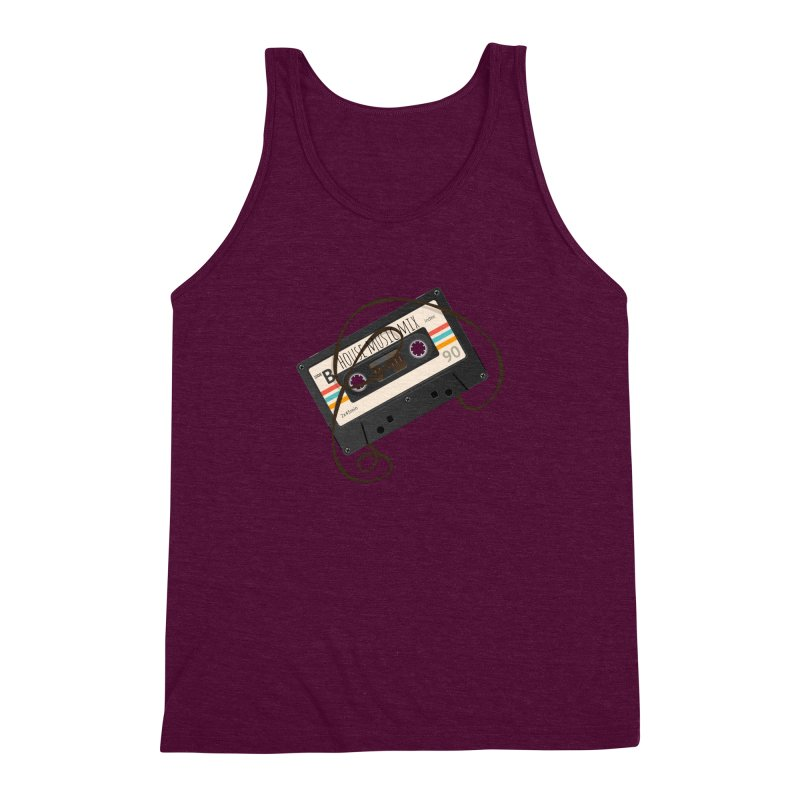 House music mixtape Men's Triblend Tank by Strictly Underground Music's Shop