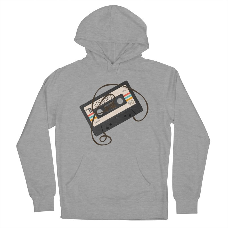Techno mixtape  Women's French Terry Pullover Hoody by Strictly Underground Music's Shop