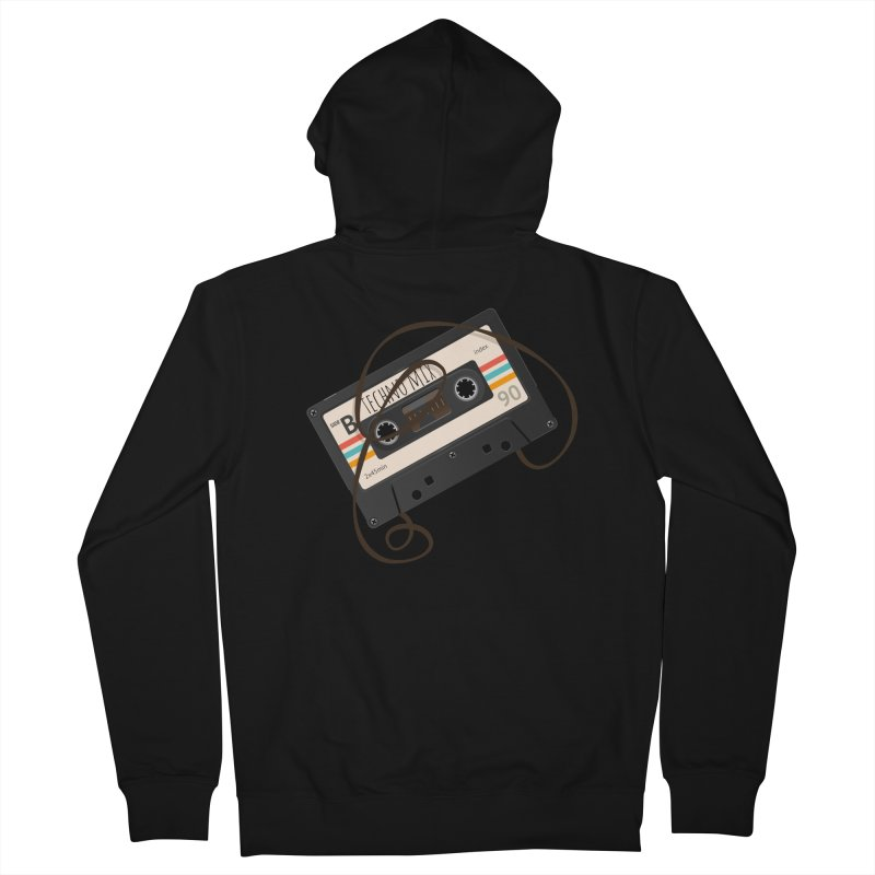 Techno mixtape  Men's French Terry Zip-Up Hoody by Strictly Underground Music's Shop