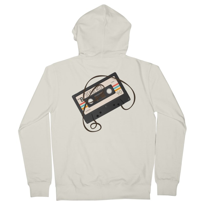 Techno mixtape  Men's Zip-Up Hoody by Strictly Underground Music's Shop