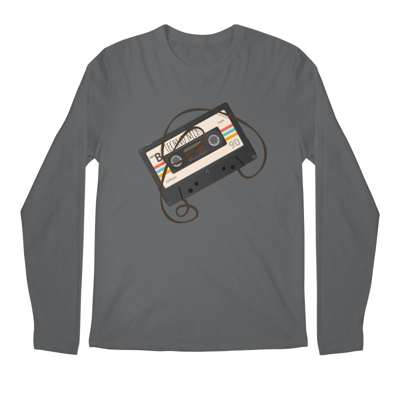 Techno mixtape  Men's Regular Longsleeve T-Shirt by Strictly Underground Music's Shop