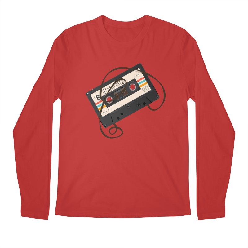 Techno mixtape  Men's Regular Longsleeve T-Shirt by Strictly Underground Music's Shop