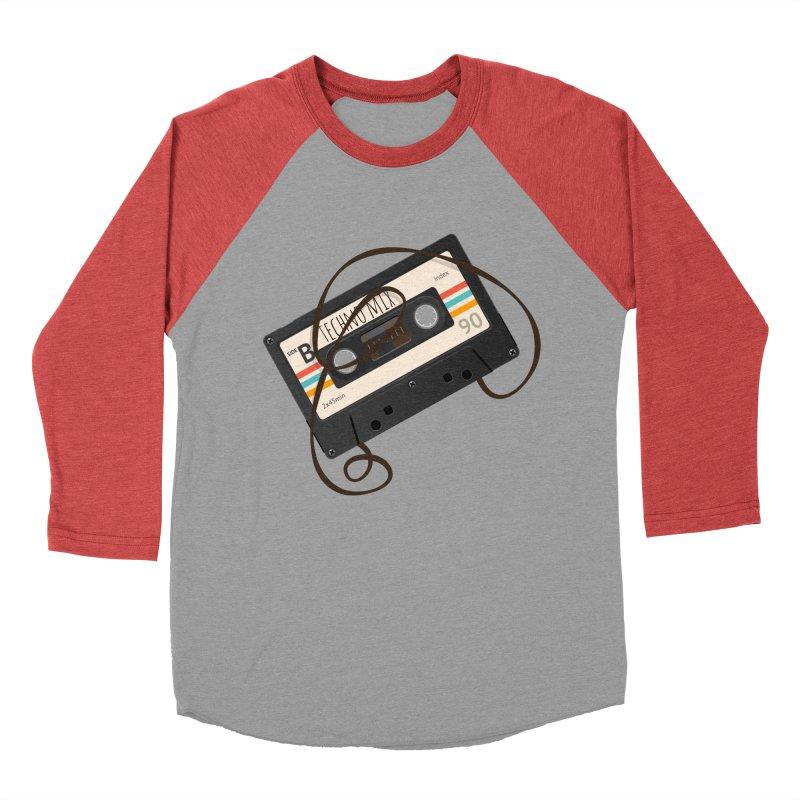 Techno mixtape  Men's Baseball Triblend T-Shirt by Strictly Underground Music's Shop