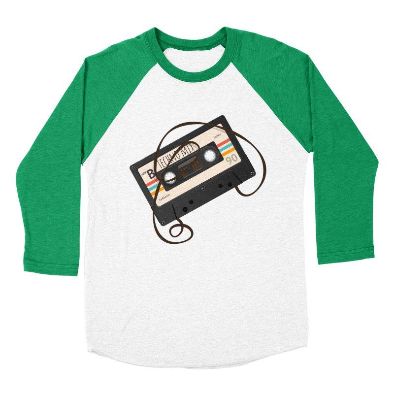 Techno mixtape  Men's Baseball Triblend Longsleeve T-Shirt by Strictly Underground Music's Shop