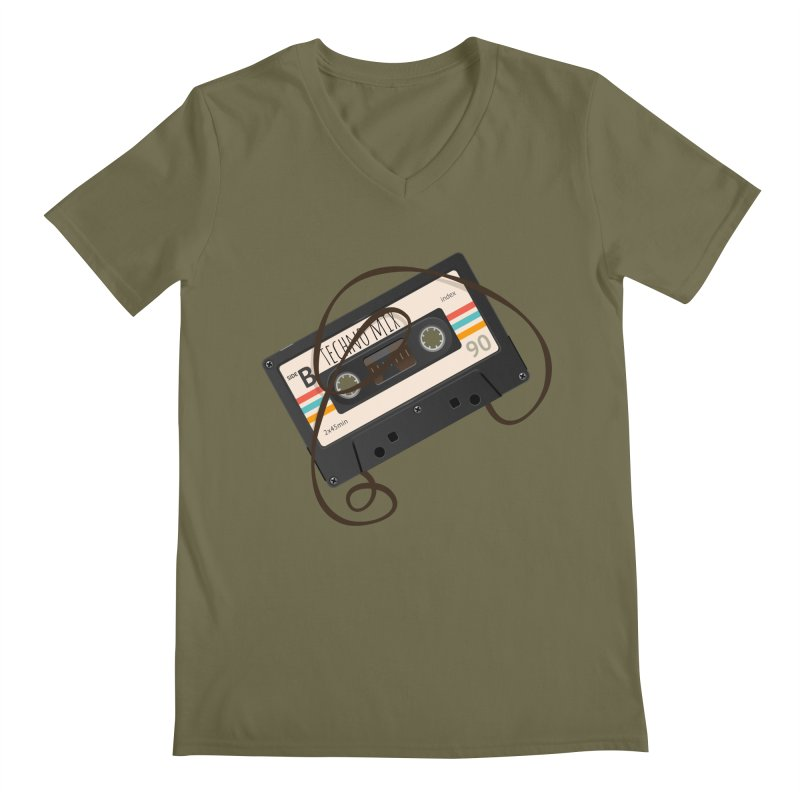 Techno mixtape  Men's Regular V-Neck by Strictly Underground Music's Shop
