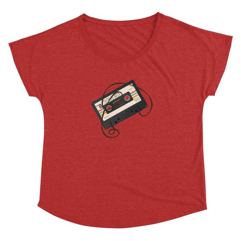 Techno mixtape  Women's Dolman Scoop Neck by Strictly Underground Music's Shop