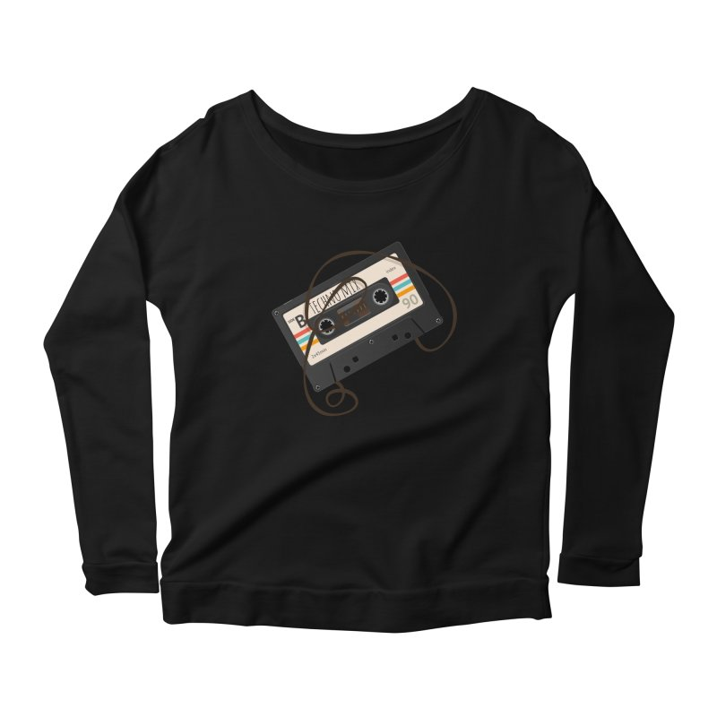 Techno mixtape  Women's Scoop Neck Longsleeve T-Shirt by Strictly Underground Music's Shop
