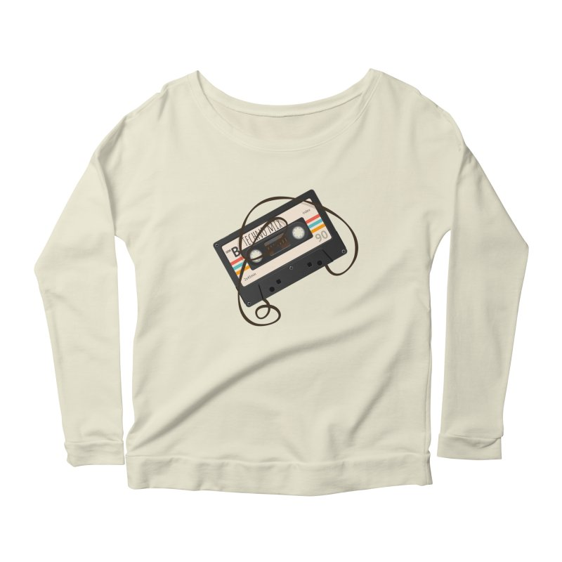 Techno mixtape  Women's Longsleeve Scoopneck  by Strictly Underground Music's Shop