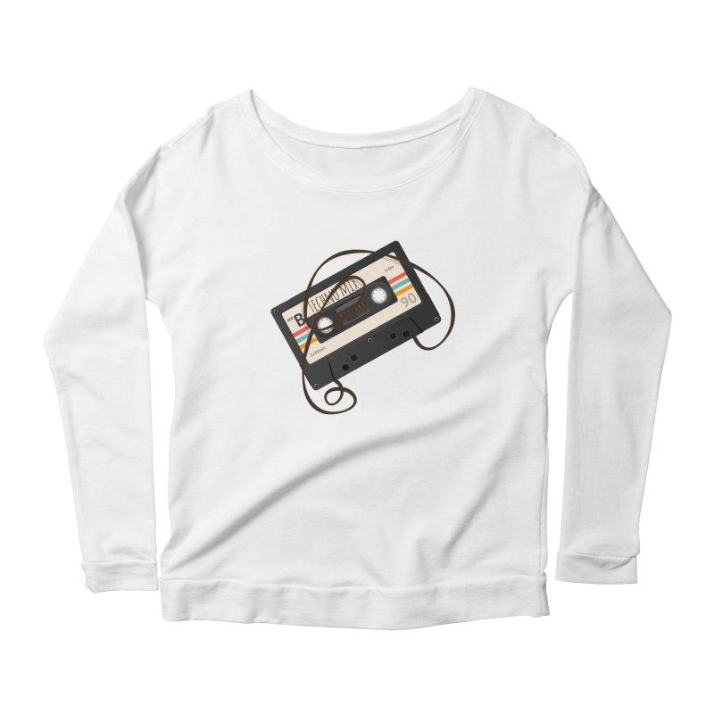 Techno mixtape  Women's Scoop Neck Longsleeve T-Shirt by Strictly Underground Music's Shop